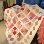 Country Roses Four Patch Quilt