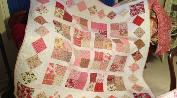 Country Roses Four Patch Quilt Pattern Susies Scraps