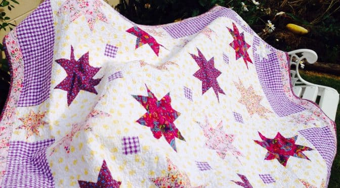"Charm Square Stars – ""Anika's Quilt"""