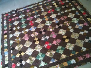 Chocolate Box Four Patch Quilt