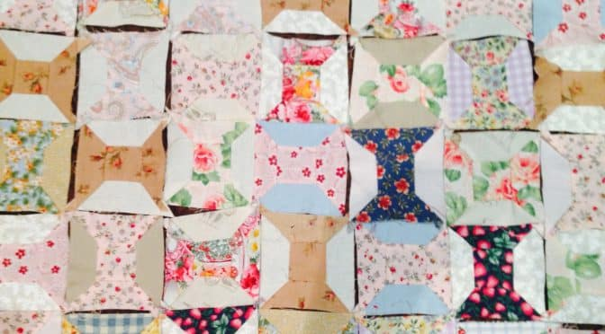 Hand Pieced Spool Blocks with Instructions