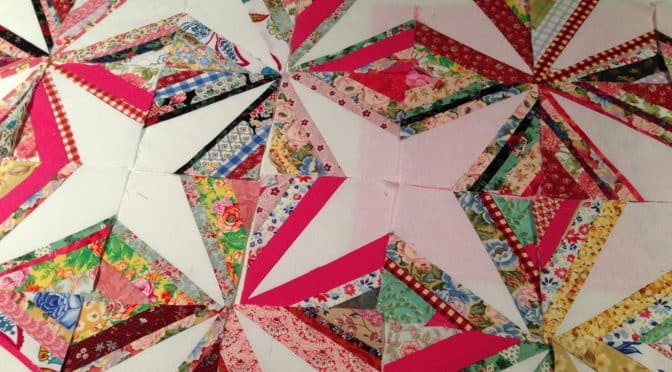 Crazy Little Strings – Diamond Charms Quilt Block and Tutorial