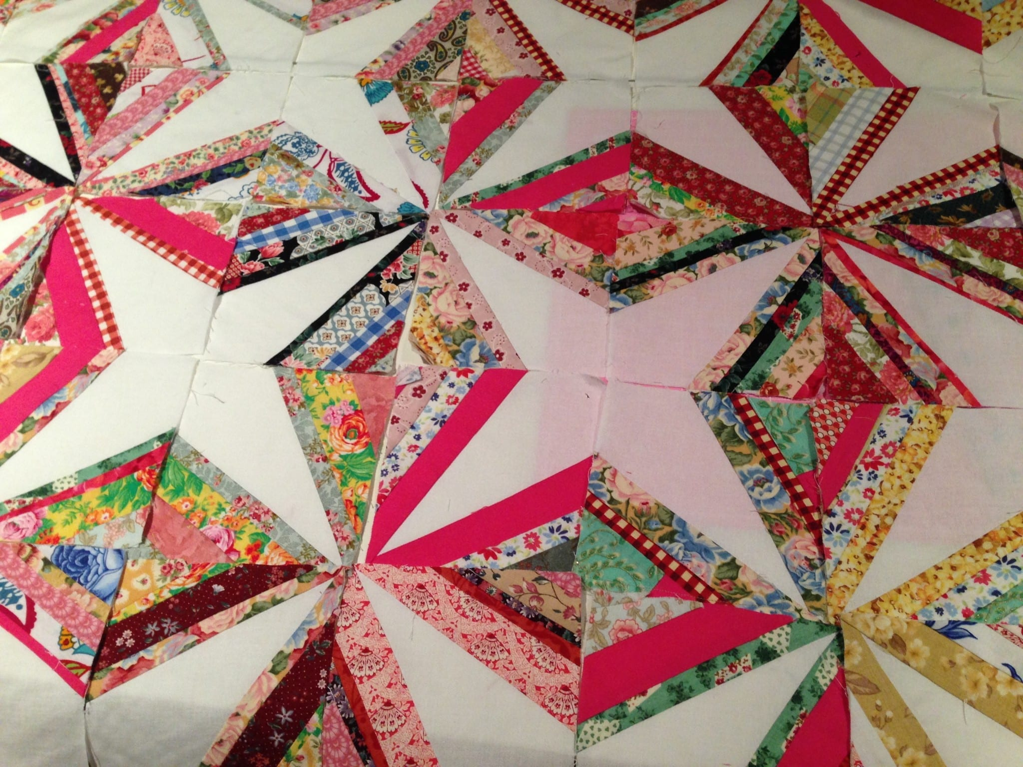 Crazy Little Strings Diamond Charms Quilt Block And