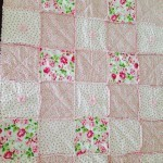 Rose Rag and Puff Throw Quilt