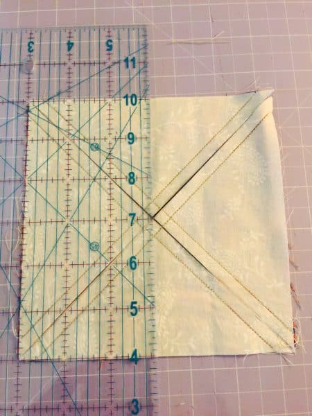 Quarter Square Triangles From Layer Cake