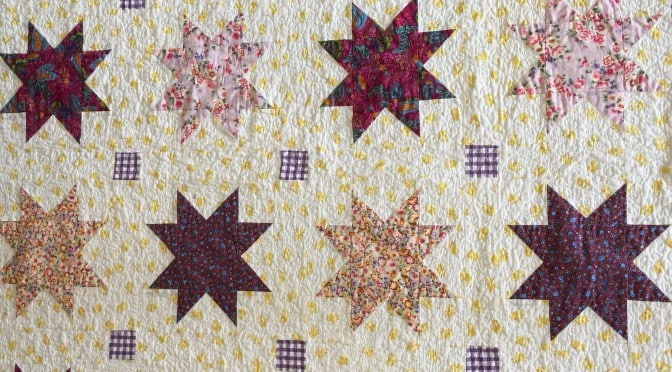 "Charm Square Stars ""Anika's Quilt"" Free Pattern"