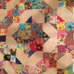 Floral Fantasy Friendship Four Patch Quilt Pattern