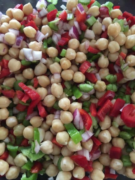 Lemon Sesame Chickpea Salad