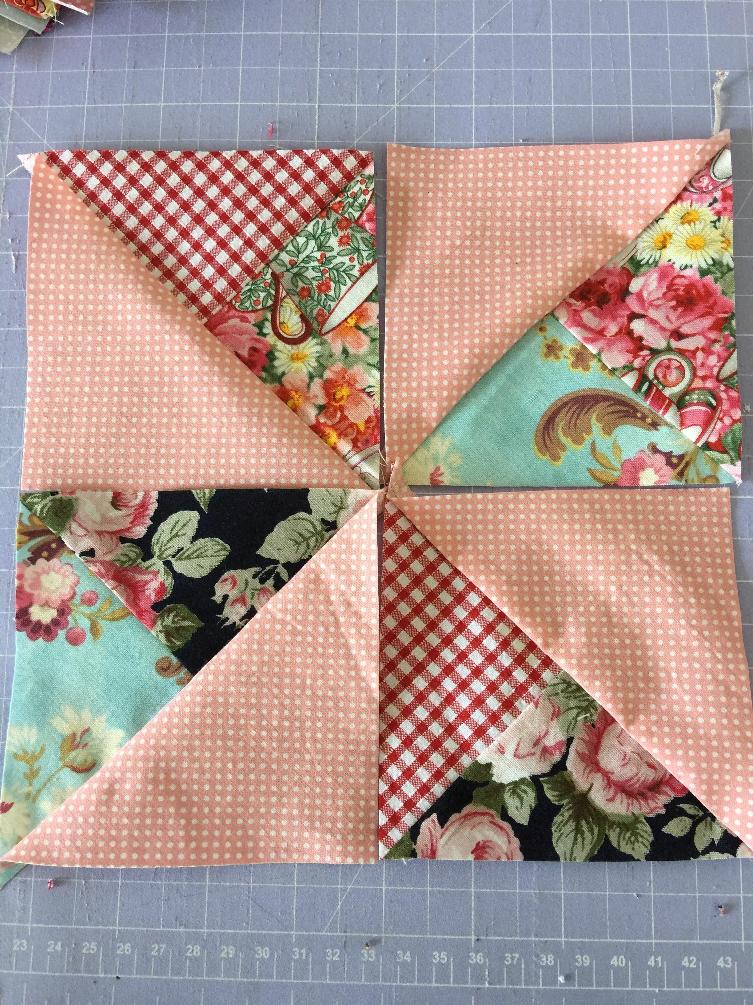 Double Pinwheel Block Easy Scrappy Style – Tutorial | susies ... : double pinwheel quilt - Adamdwight.com