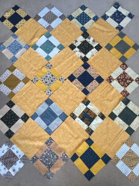 Uneven Nine Patch Quilt Pattern Antique Style Susies