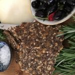 What's Cooking?…Rosemary Salted Flax Seed Crackers