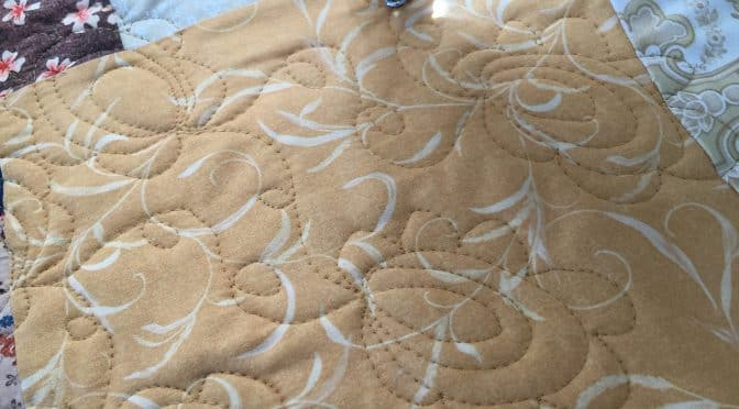 Free Motion Egg Flower Quilting