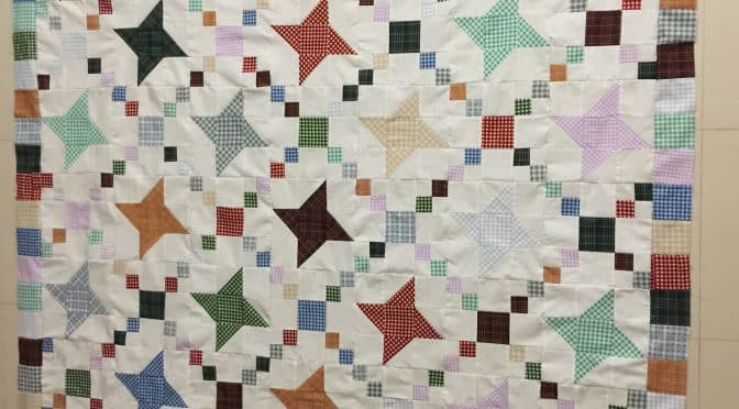 Fettered Friendship Stars Quilt Pattern Bordered