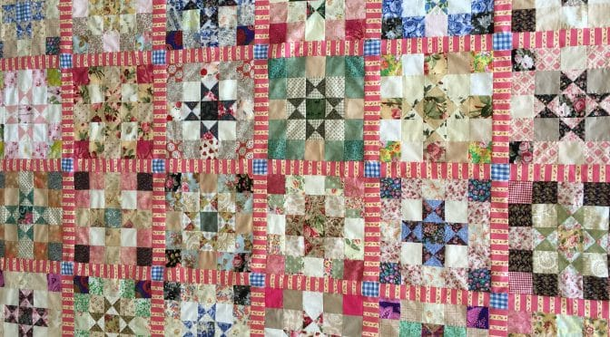 Ohio Stars Quilt with striped sashing
