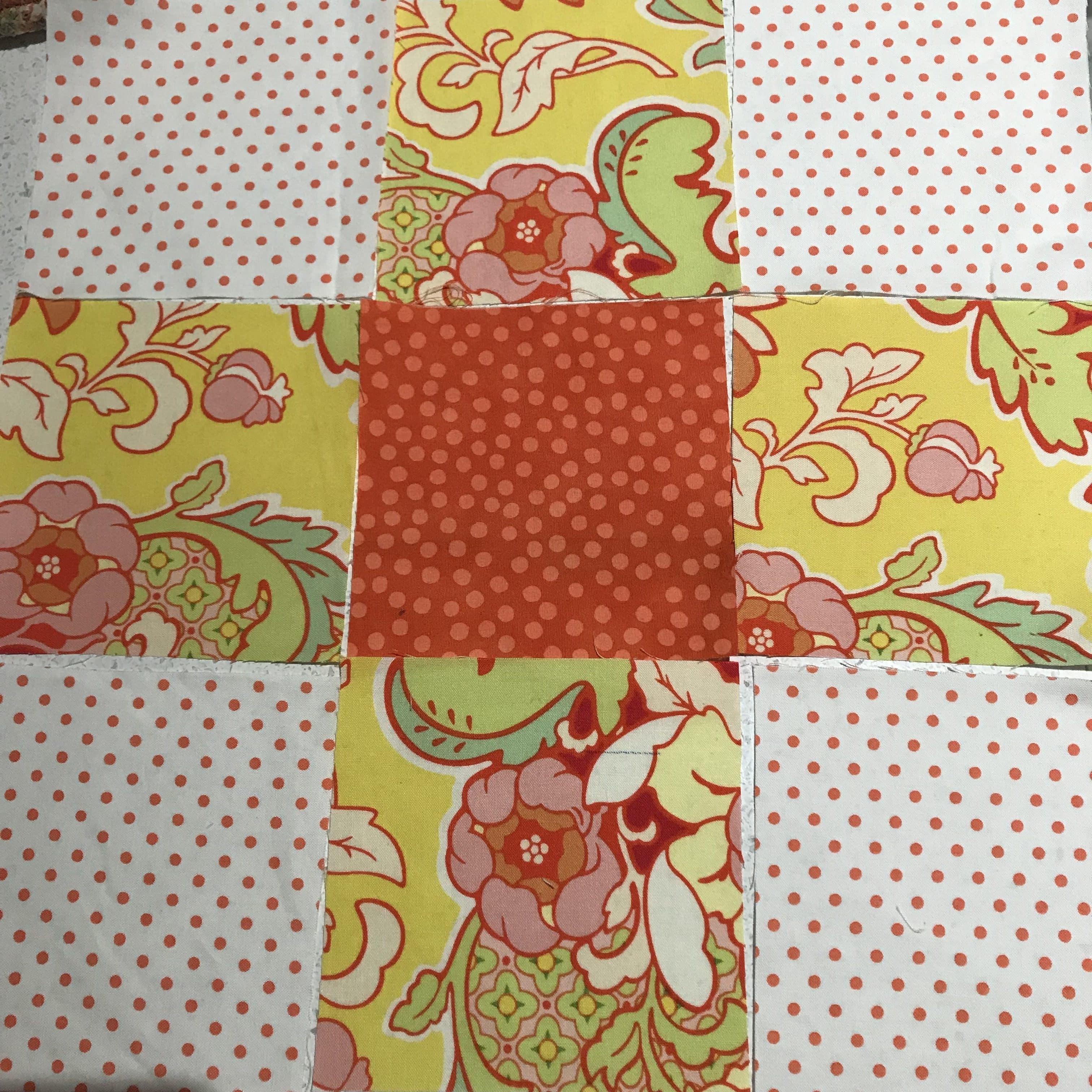 Uneven Nine Patch Quilt Pattern Antique Style Archives