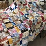 Antique One Patch Quilt aka Disappearing Nine Patch