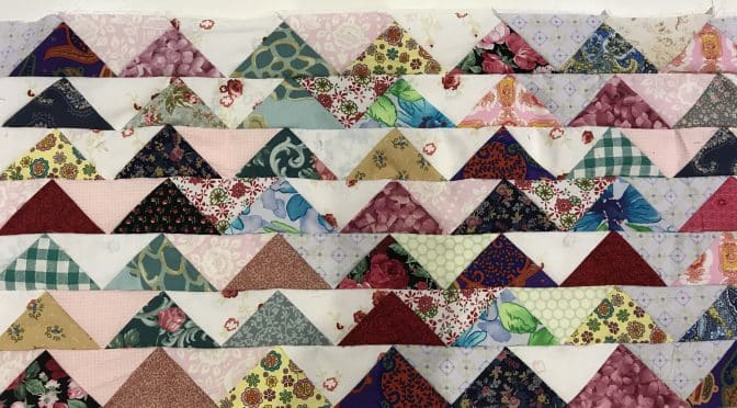 Flying Geese Antique Style Quilt Tutorial – Made Easy