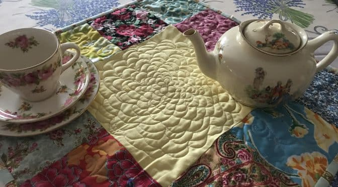 Tea Time for Alice Mini Quilt