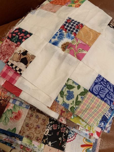 Around the Garden in Scraps Quilt Block