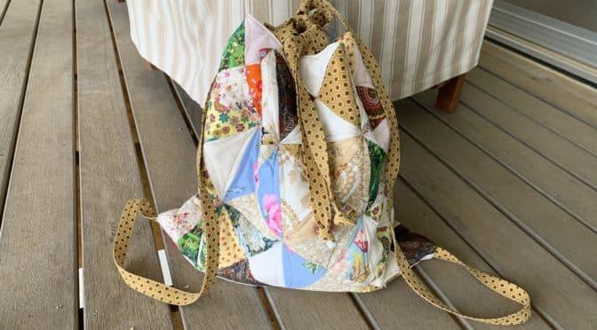 Patchwork Backpack Sashiko Style