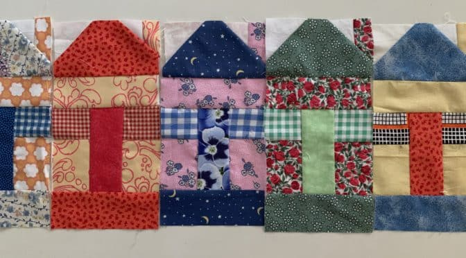 Crazy for Cottages Quilt Block