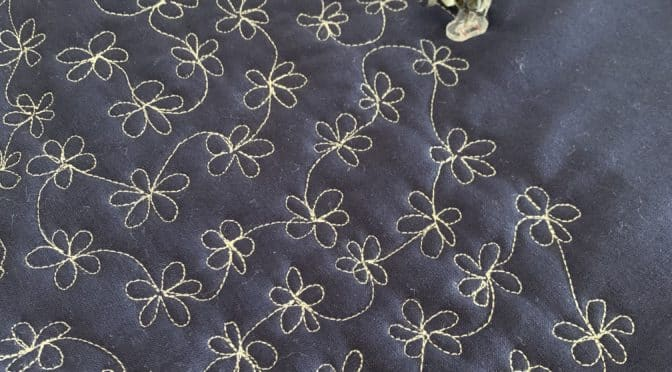 Sashiko Daisies by Treadle Free Motion