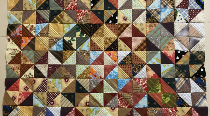 Scrappy Broken Dishes Quilt – Antique Inspired