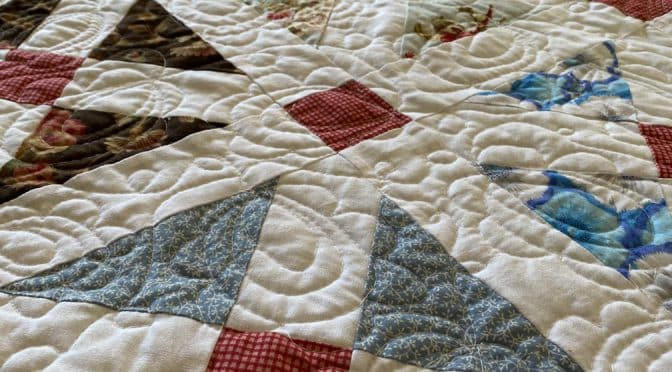 Old Italian Blocks Quilt Finish