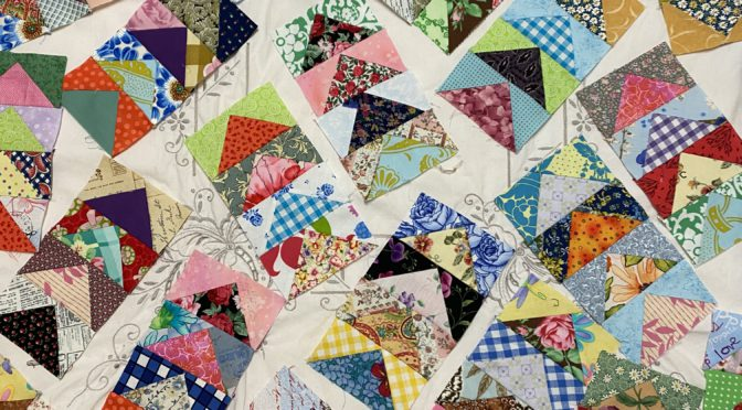 Gaggles OF Flying GEESE quilt blocks