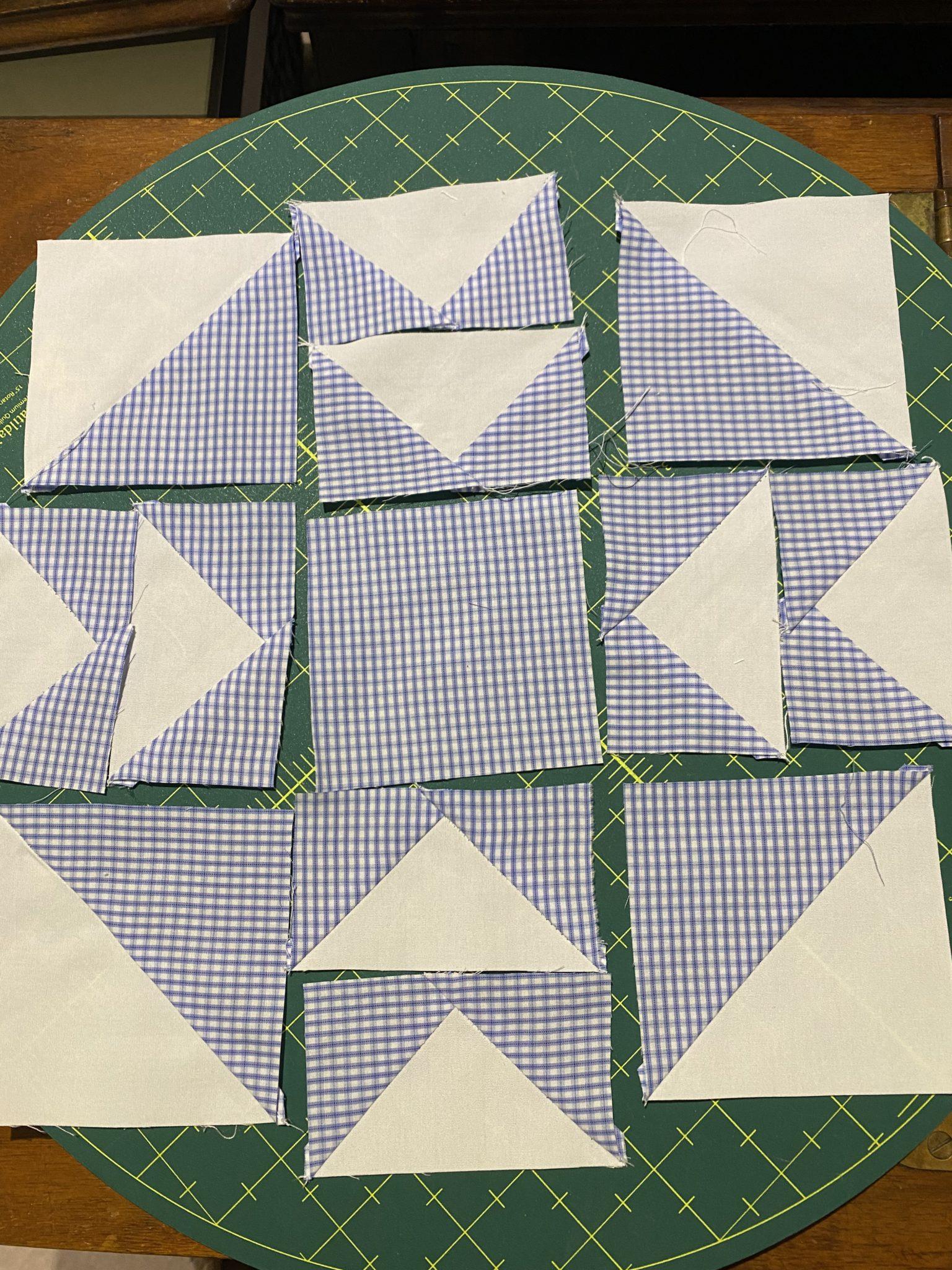 Antique Queen Cross Double T Quilt Block